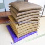 座布団や頂き物をもったいないボランティアプロジェクトに寄付しました